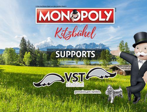 Monopoly Kitzbühel spendet € 5 pro Spiel an VST mit speziellem Online-Code